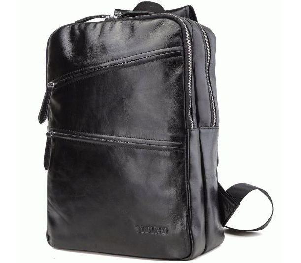 18f75c564d74 Рюкзак кожаный tiding bag черный t3173 - купить в Украине, цены ...