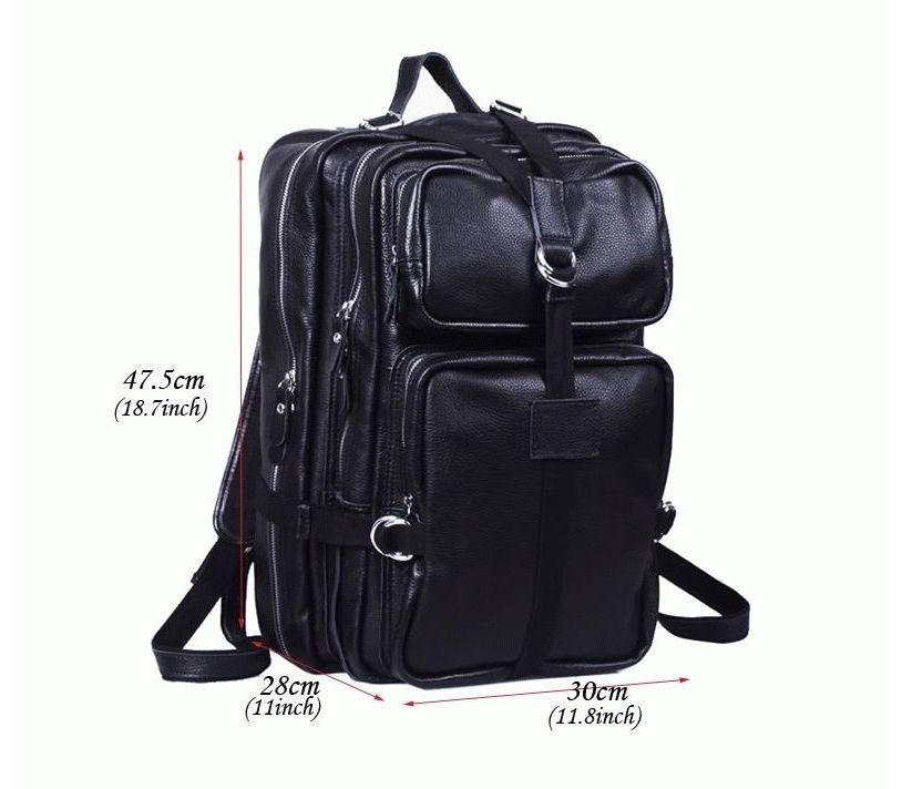 9b5bfbdfc26d Рюкзак кожаный tiding bag черный t3034 - купить в Украине, цены ...